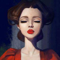 Beautiful illustration of woman