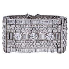 Platinum and Diamond Art Deco Choker