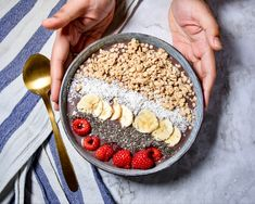 Açai bowl for your breakfast, link on blog Love Food, Acai Bowl, Spices, Cooking, Breakfast, Link, Amazing, Green, Blog