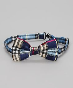 Love this Navy Blue & Red Plaid Bow Tie by Polka Dotsy on #zulily! #zulilyfinds