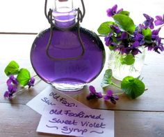 Old Fashioned Sweet Violet Syrup for Easter & Mothering Sunday Cakes & Bakes by Tuatha