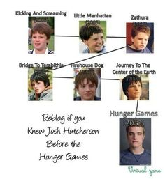I you knew (and loved) Josh Hutcherson before The Hunger Games! All the way back to Little Manhattan! Hunger Games Cast, Hunger Games Fandom, Hunger Games Humor, Hunger Games Catching Fire, Hunger Games Trilogy, Brücke Nach Terabithia, Bridge To Terabithia, Josh Hutcherson, What Do You Mean