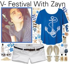 """V- Festival With Zayn - #054"" by onedirection-outfits ❤ liked on Polyvore"