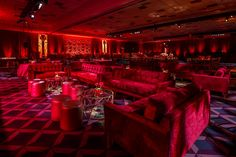 A separate Grammy Lounge area was marked by red lighting.  Photo: Sean Twomey/2me Studios