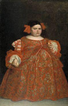 Eugenia Martínez Vallejo, clothed byJuan Carreño de Miranda Date: 1680, currently in the Museo del Prado