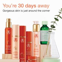 You're 30 days away. Gorgeous skin is just around the corner so message me and I can help you reach your goal to gorgeous skin.