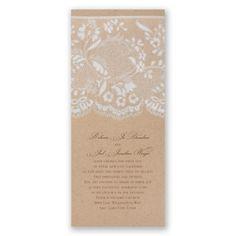 naturally romantic wedding invitation - brown   kraft paper wedding invites at Invitations By Dawn