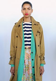9 Layering Lessons to Learn from the J. Crew Fall 2016 Presentation - Elongate with Long Lines - from InStyle.com