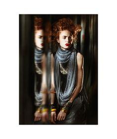 'Infinity'...Photographers: Pony & BrettFashion Stylist: Yuko NakaoMakeup Artist: Kelly BuddHair Stylist: Shinya NakagawaModel: Theresa Bellak (Major Models NYC)All scarves by: Alexandra GreinerPhotographer's Assistant: Brandon MercerMakeup Artist's Assistant: Jackie Push