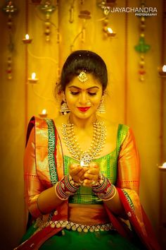 The Super Extravagant Telugu Wedding Replete With Glitz & Glamour Indian Wedding Jewelry, Indian Bridal Wear, Telugu Wedding, Saree Wedding, Half Saree Designs, Sophisticated Bride, South Indian Bride, Indian Beauty Saree, Bridal Photography