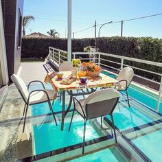 Spacious rooms, gorgeous furniture and solutions made for comfort, are some of the qualities you get from renting Villa Sciascia. Imagine having breakfast here on this gorgeous terrace made of glass overlooking the pool! // renatevillas.com