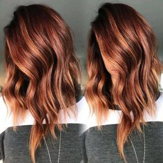 Oct 2019 - [tps_header]Balayage isn't a specific color or look, but rather the actual technique that stylists use to apply highlights. This technique looks like natural sun-kissed highlights throughout the hair. Balayage is the . Hair Color Auburn, Ombre Hair Color, Cool Hair Color, Brown Hair Colors, Red Highlights In Brown Hair, Brown To Red Hair, Auburn Hair With Highlights, Brown Auburn Hair, Dark Auburn
