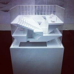 by aikarimi Model from Johnston Mark lee Studio , not sure which student's work #architecture #model #harvardgsd