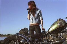 EAT DUST JEANS  #biker #girl #custom #motor #moto