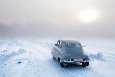 Saab 93 snow
