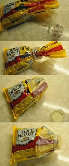 BOTTLE SPOUT to STORE SNACK BAG'S Storage DIY