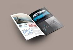 Friends, today's freebie is a PSD mockup of an open magazine. This is a