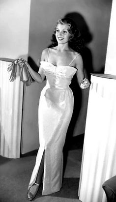 The beautiful, Rita Hayworth.(love her gown)
