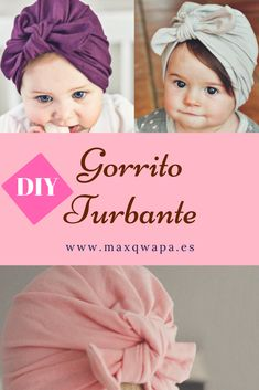 ideas for diy baby turban no sew how to make Baby Turban, Turban Hut, Diy Baby Headbands, Turban Headbands, Diy Headband, Baby Girl Hats, Baby Girl Fashion, Baby Kleidung Set, Baby Sewing Projects