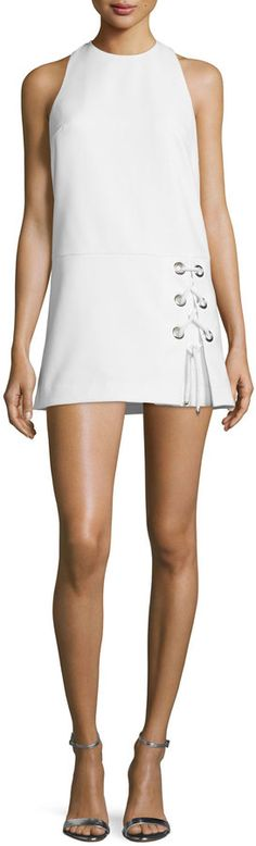 Rebecca Minkoff Silva White Sleeveless Lace-Up Dress {worn by Sharon Case's Sharon ♥ The Young + The Restless}