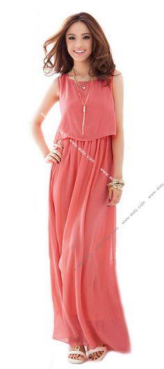 Fashion Sexy Average Yard Bohemia Style Lady Chiffon Beach Long Dress