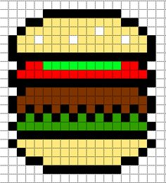 Minecraft Pixel Art Templates: HamBurger