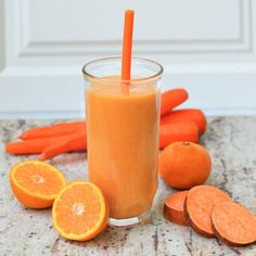 Sweet Potato Juice, Sweet Potato Smoothie, Carrot Smoothie, Orange Smoothie, Smoothie Blender, Juice Smoothie, Sweet Potato Recipes, Vegetable Smoothies, Vegan Smoothies