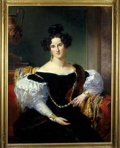 Portret van Olga Emilie Sillem (1814-1899), echtgenote van Johannes Borski (1834) Jan Adam Kruseman. Olieverf op doek. Inventarisnummer 25416