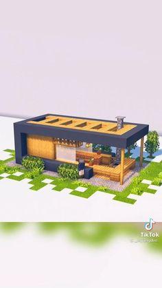 Villa Minecraft, Modern Minecraft Houses, Minecraft House Plans, Minecraft Mansion, Minecraft Houses Survival, Minecraft Cottage, Minecraft House Tutorials, Minecraft Room, Minecraft House Designs