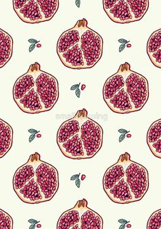 pomegranate garden Art Print by smalldrawing Wallpaper Quotes, Wallpaper Backgrounds, Iphone Wallpaper, Pattern Art, Pattern Design, Print Patterns, Pomegranate Art, Pomegranate Tattoo, Pomegranate Vector