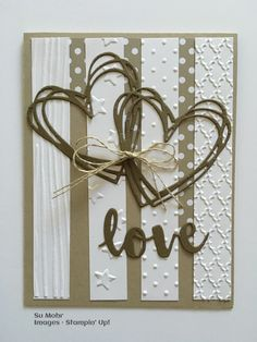 24 Stampin' Up! Card Ideas to WOW! Your Sunday! (Mary Fish, Stampin' Pretty The Art of Simple & Pretty Cards) Wedding Shower Cards, Wedding Cards, Wedding Gifts, Ideas Aniversario Novio, Valentine Love Cards, Wedding Anniversary Cards, Cricut Anniversary Card, Happy Anniversary, Engagement Cards