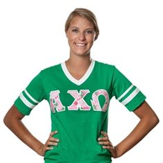 I LOVE this company!  darling packaging and great products! Alpha Chi Omega Sorority Jersey www.sassysorority.com
