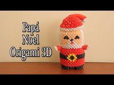 Santa Claus En Origami 3D TUTORIAL! - YouTube