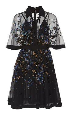 Embroidered Bell Sleeve MinI Dress by Elie Saab Resort 2019