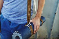 Hemp Yoga Mat Strap  Colorful Bohemian woven by FeedbackStraps