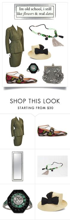 """""""Vintage Military Chic"""" by marilyn-montoto on Polyvore featuring Jacques Griffe, Gucci, Stephen Jones and vintage"""