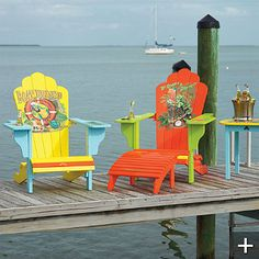 Got to have these chairs! Margaritaville Outdoor Adirondack Chairs