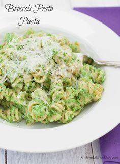 Pasta with Broccoli Pesto - so healthy and delicious!