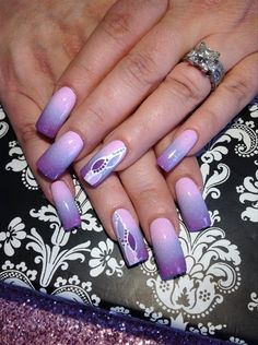 Purple Ombre - Nail Art Gallery