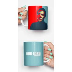 Nicolas Cage Our Lord Funny Mug Gifts for Him Meme Mug Unique Mug... ($14) ❤ liked on Polyvore featuring home, kitchen & dining, drinkware, drink & barware, grey, home & living and mugs