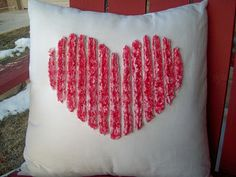 Awesome pillow to make for your sweetie! Faux Chenille Technique