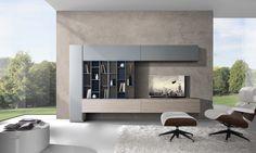 Giornopergiorno is the ultimate expression of new trends in interior design: creative freedom, mixtures of styles, attention to materials and maximum customization.http://www.giessegi.it/it/soggiorni-moderni-componibili?utm_source=pinterest.com&utm_medium=post&utm_content=&utm_campaign=post-soggiorni