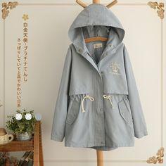 Áo khoác thắt eo hình mỏ neo phong cách Nhật Bản Lolita Fashion, Pop Fashion, Modern Fashion, Cute Fashion, Teen Fashion, Cute Winter Outfits, Cute Outfits, Cotton Vest, Girl Outfits