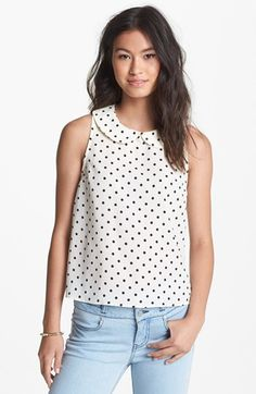 Discount For Sale White/Navy Polka Dot Sleeveless Shirt - 10 / WHITE I Saw It First Buy Cheap Outlet Locations Sale Cheap Price pAB9jHD