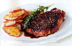 Rib Eye with Balsamic Reduction         Rib-Eye Steak au Poivre with Balsamic Reduction Recipe  at Epicurious.com