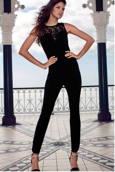 514523d73b0 Rompers Jumpsuit women Heart-neck Lace Stitching Black Jumpsuits new 2015  Girl Rompers Casual overalls