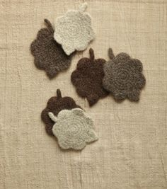Felted Leaves Coasters
