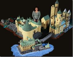 Harry Potter's Hogwarts School Made from 400,000 LEGO Bricks by  Alice Finch