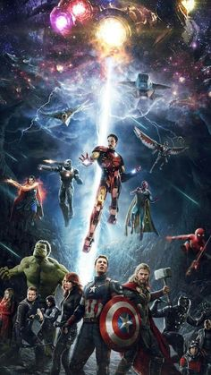 "The Marvel Cinematic Universe wraps up its long-running ""Infinity Saga"" with the messy, convoluted, and thematically satisfying Avengers: Endga Marvel Avengers, Iron Man Avengers, Marvel Comics, Marvel Films, Marvel Art, Marvel Memes, Marvel Characters, Spiderman Marvel, Avengers Actors"