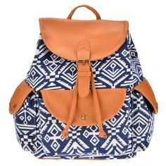 Main Material:   Canvas  Lining Material: Polyester   5 Colors for your choice: Black and white stripe, Brown, Blue white stripe, Blue, Black   Design: Arched shoulder strap   Bag Size: Approx 27 x 20 x 32cm (10.5\'\' x 7.8\'\' x 12.5\'\') (L x T x H)   Style: Backpack / schoolbag  Pattern: Print  Clasp type:   Covered  Strap Length: 125cm  Interior design: Indoor zipper pocket   Occasion: Casual